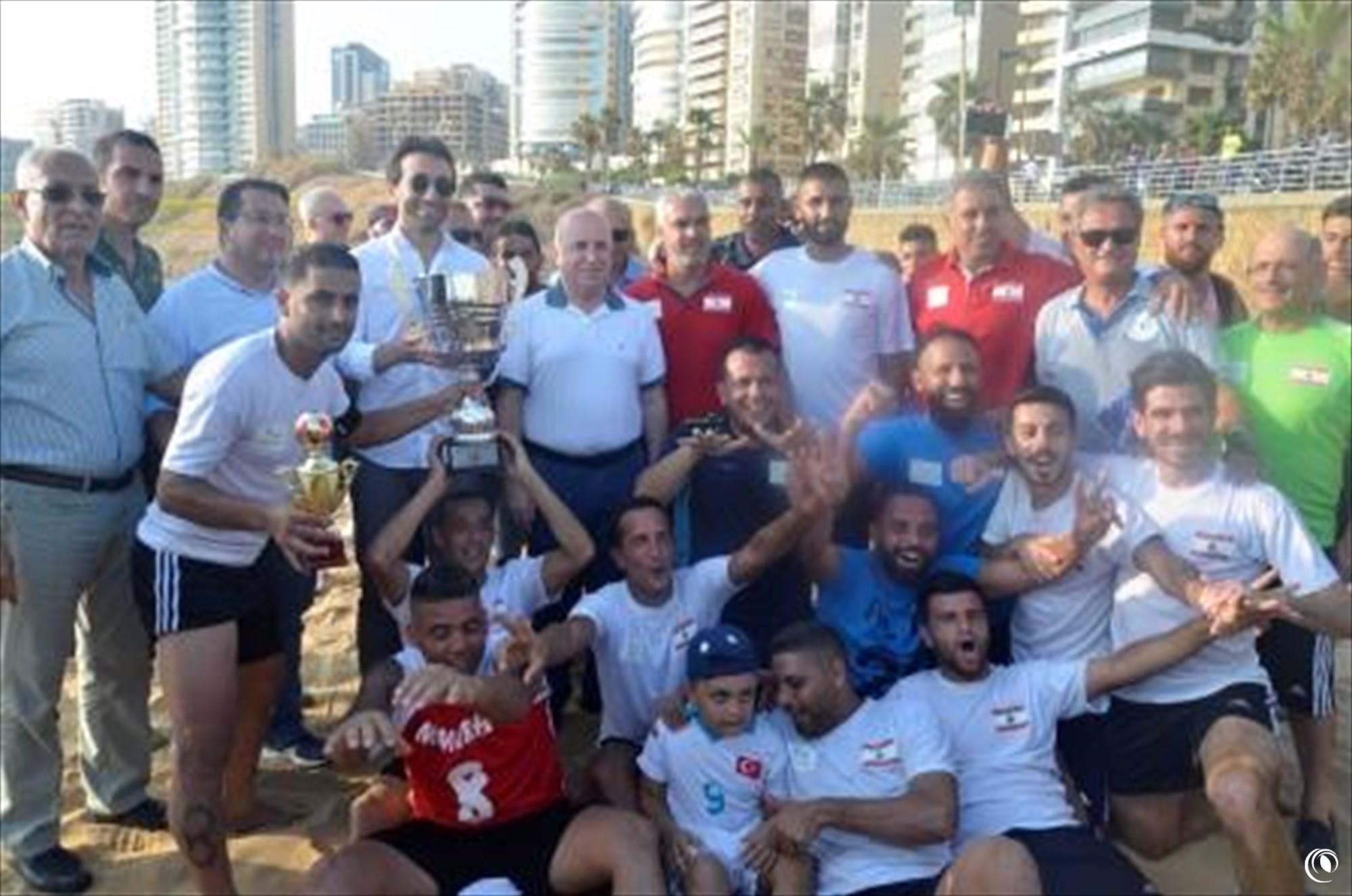 Regie team claims its 6th Lebanese National Beach Soccer League victory