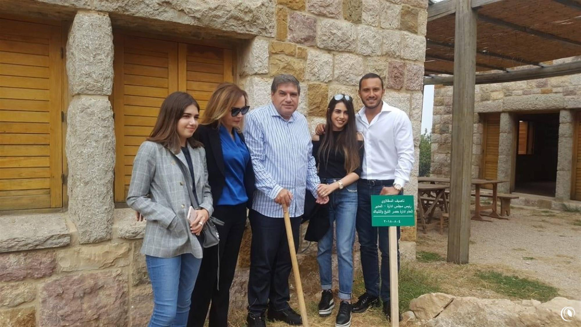 Eng. Seklaoui plants tree in Horsh Ehden Natural Reserve