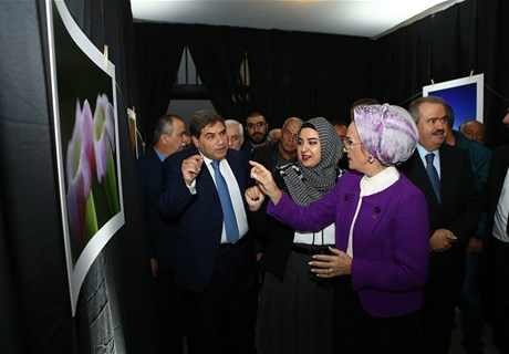 "The Second Lady, Mrs. Randa Assi Berri Sponsoring the Photography Exhibition Following the Regie's ""Manchar Souwar"" Competition"