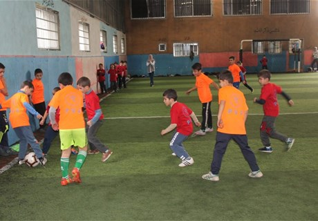 A sport festival at Srifa within PVA Project to reduce child labor
