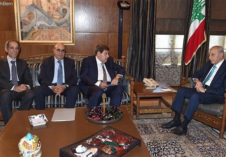 Speaker Berri meets Regie delegation headed by Eng. Seklaoui