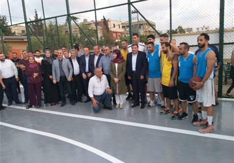 Regie inaugurates basketball court in Tyr