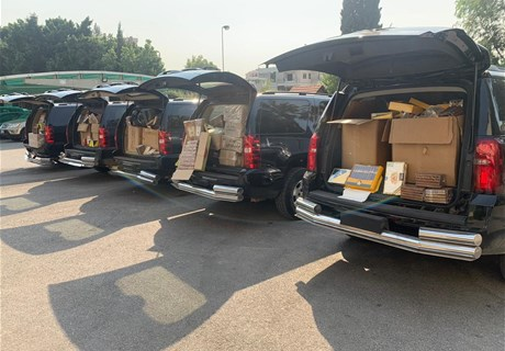 Regie confiscates smuggled tobacco products in Maqneh, Baalbekk, and Dahyeh